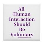 Human Interaction Tile Coaster