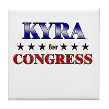 KYRA for congress Tile Coaster