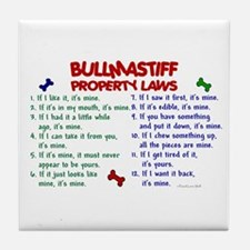 Bullmastiff Property Laws 2 Tile Coaster