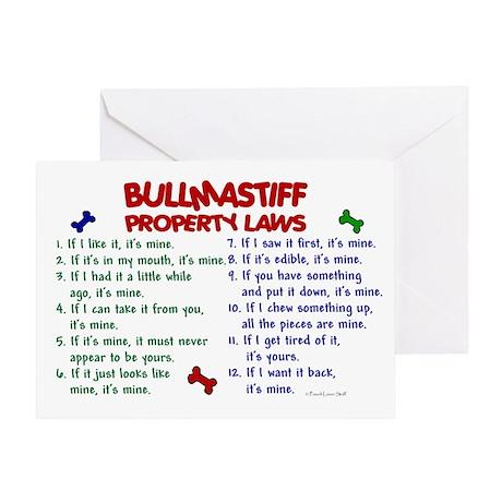 Bullmastiff Property Laws 2 Greeting Card