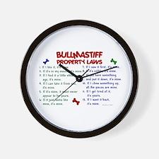 Bullmastiff Property Laws 2 Wall Clock