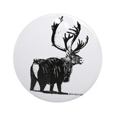 Reigndeer Original Artwork Ornament (Round)