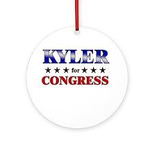KYLER for congress Ornament (Round)