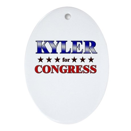 KYLER for congress Oval Ornament