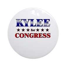 KYLEE for congress Ornament (Round)