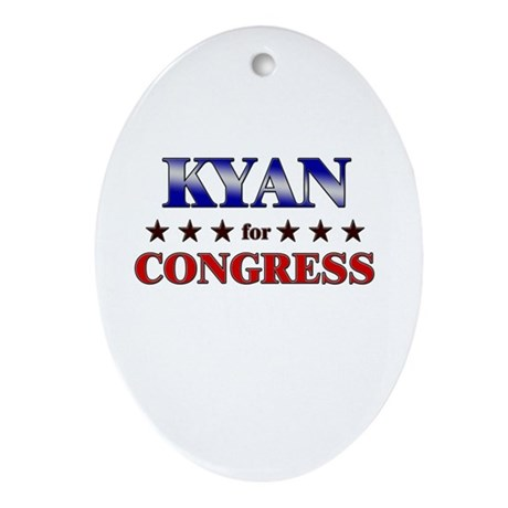KYAN for congress Oval Ornament