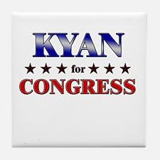 KYAN for congress Tile Coaster