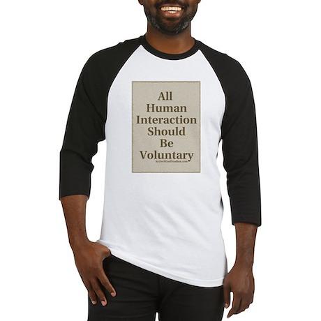 Human Interaction-Sepia Baseball Jersey