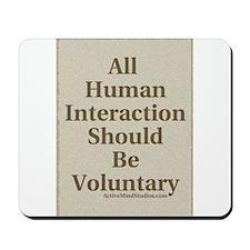 Human Interaction-Sepia Mousepad