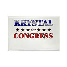 KRYSTAL for congress Rectangle Magnet