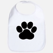 Black Dog Paw Bib