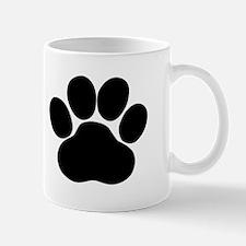 Black Dog Paw Mugs