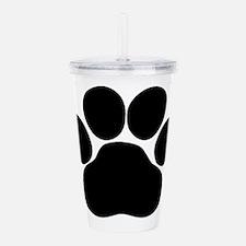 Black Dog Paw Acrylic Double-wall Tumbler
