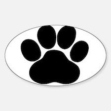 Black Dog Paw Decal