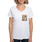 WOE Brown Bar Bald Women's V-Neck T-Shirt
