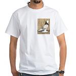 WOE Brown Bar Bald White T-Shirt