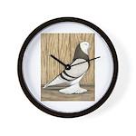 WOE Brown Bar Bald Wall Clock