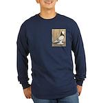 WOE Brown Bar Bald Long Sleeve Dark T-Shirt