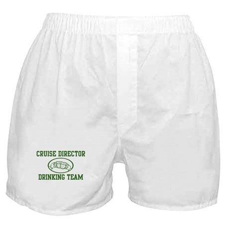 Cruise Director Drinking Team Boxer Shorts