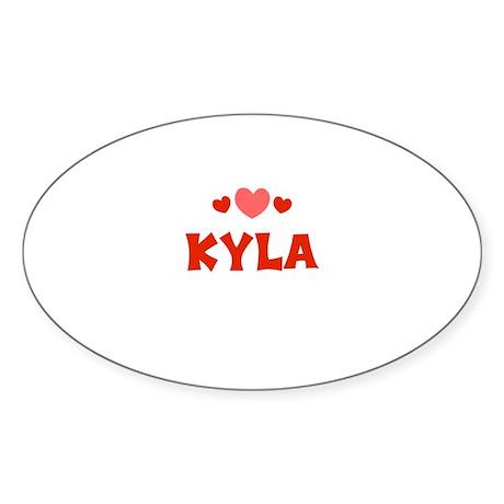 Kyla Oval Sticker