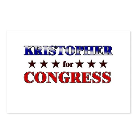 KRISTOPHER for congress Postcards (Package of 8)