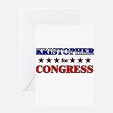 KRISTOPHER for congress Greeting Card