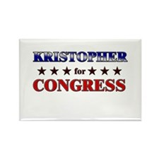 KRISTOPHER for congress Rectangle Magnet (10 pack)