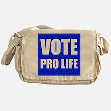 Vote Pro Life Messenger Bag