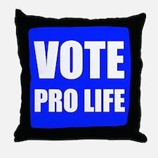 Vote Pro Life Throw Pillow