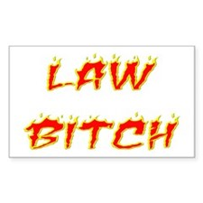 Law Bitch Rectangle Decal