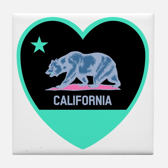 Cool California the golden state Tile Coaster