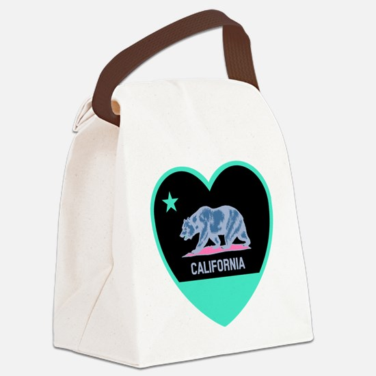 Cute California golden bears kids Canvas Lunch Bag