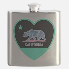 Cute California golden bears Flask