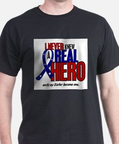 Never Knew A Hero 2 Military (Sister) T-Shirt