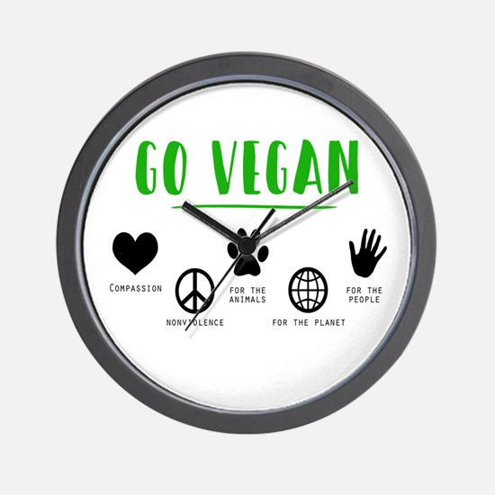 Vegan Food Healthy Wall Clock