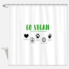 Vegan Food Healthy Shower Curtain