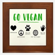 Vegan Food Healthy Framed Tile