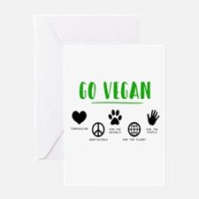 Vegan Food Healthy Greeting Cards