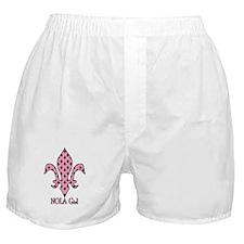 NOLA Girl Fleur de lis (pink) Boxer Shorts