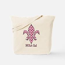 NOLA Girl Fleur de lis (pink) Tote Bag