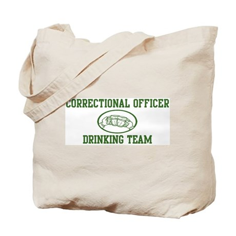 Correctional Officer Drinking Tote Bag