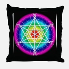 Star TetraHedron With Angelic Throw Pillow