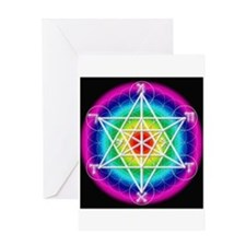 Star TetraHedron With Angelic Greeting Card