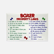 Boxer Property Laws 2 Rectangle Magnet (10 pack)