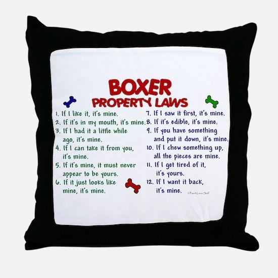 Boxer Property Laws 2 Throw Pillow