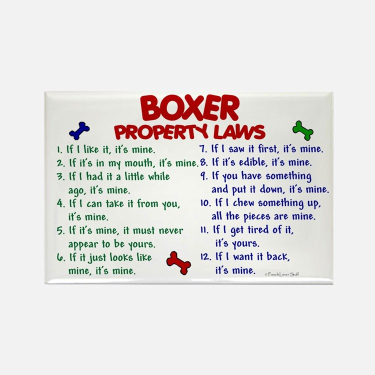 Boxer Property Laws 2 Rectangle Magnet