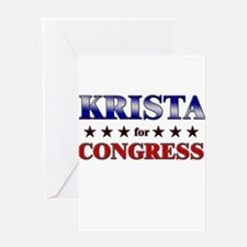 KRISTA for congress Greeting Card