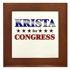 KRISTA for congress Framed Tile