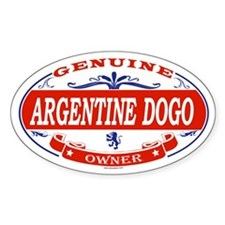 ARGENTINE DOGO Oval Decal