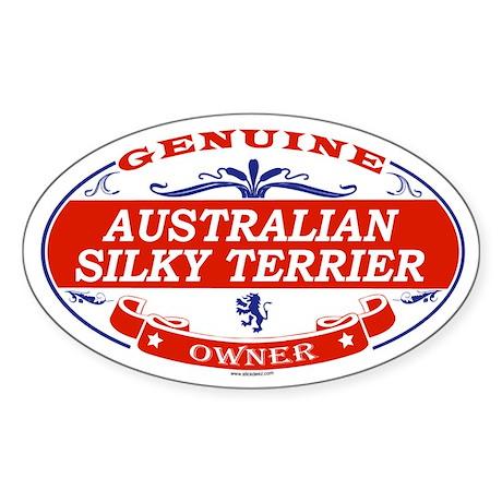 AUSTRALIAN SILKY TERRIER Oval Sticker